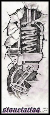 Stone Tattoo Fotoalbum Me Kresby Biomechanik